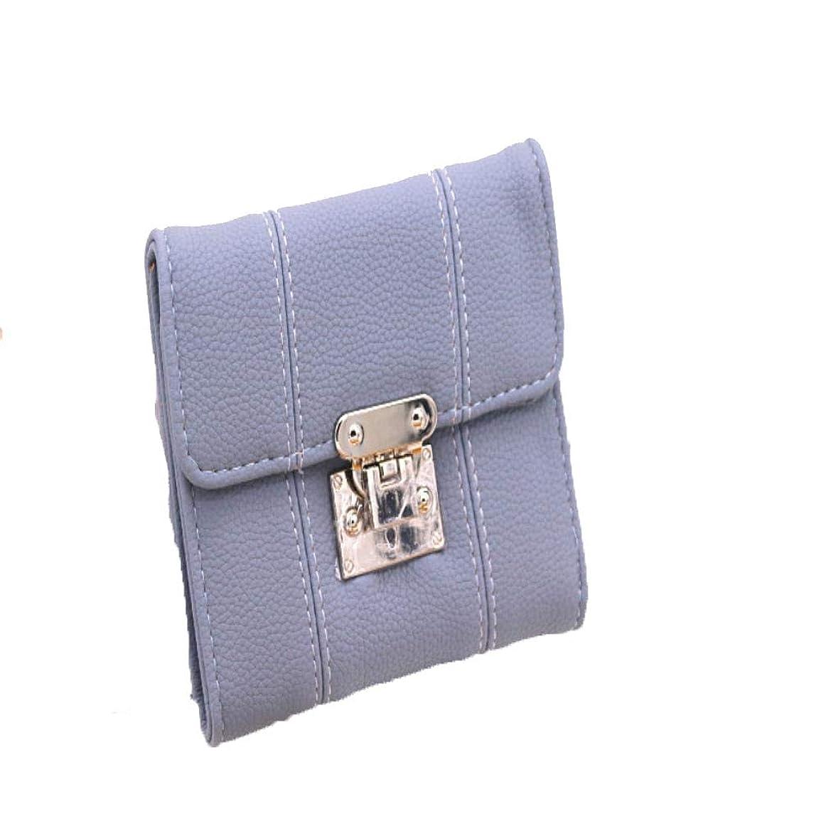 ライブスイング迷信ハンドバッグの女性の短い財布の女性の韓国語バージョンのロックライチPUレザー財布3つ折り財布無地コインバッグ