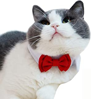 Bolbove Adjustable Formal Pet Bowtie Collar Neck Tie for Dogs & Cats