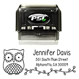 Owl Personalized Self Inking Return Address Stamp - Great Wedding, Housewarming, Teacher or Business Gift
