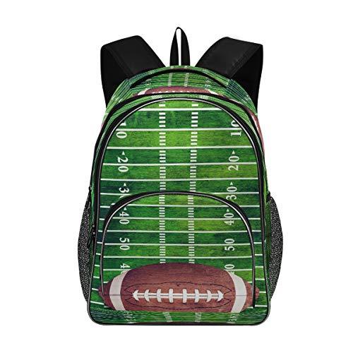 Laptop-Rucksäcke für Damen und Herren – Retro American Football Field Großer Schulrucksack Fit 17 Zoll Computer Bookbag für Schule, Business, Reisen, Fitnessstudio