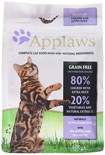 Applaws kat droog voer kip & eend, per stuk verpakt (400 g)