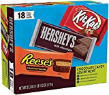 HERSHEY'S, KIT KAT and REESE'S Assorted Milk Chocolate Candy, Halloween, 27.3 oz, Variety Box (18 ct)