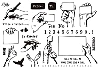 memo Clear Stamp Or stamp for DIY Scrapbooking/Card Making/Kids Fun Decoration Supplies A143