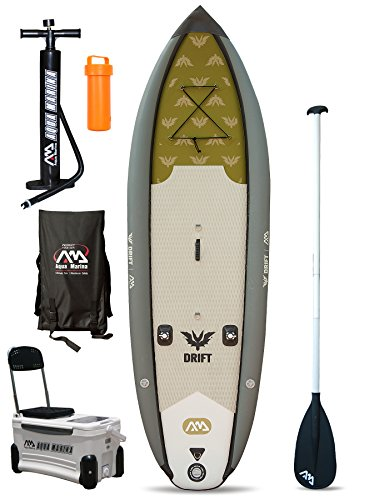DRIFT Fishing Specialist SUP - Tabla de remo hinchable (3 m, 3 m) (tabla + pala)