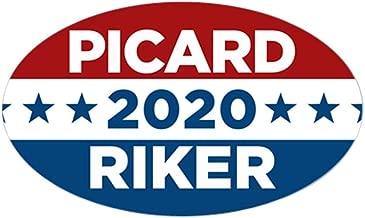 CafePress Star Trek Picard Riker 2020 Oval Bumper Sticker, Euro Oval Car Decal