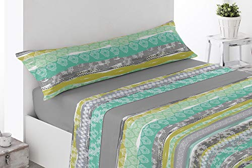 Energy Color Textil (Polar 9004) Juego SÁBANAS Completo Térmico 3 Piezas Pirineo Otoño-Invierno (Gris, 135_x_200_cm)