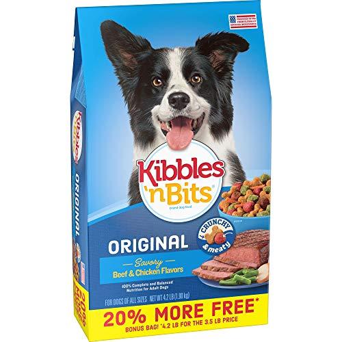 Kibbles  N Bits Original Savory Beef & Chicken Flavors Bonus Bag Dry Dog Food  4.2 Lb