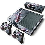AXDNH Etiqueta Engomada De La Piel De La Consola Xbox One Diseño De Moda Cool Racing + 2 Máscaras De Controlador + Película De Protectores Kinect,0041