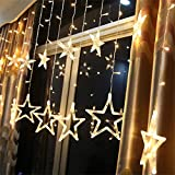 SAMTITY Luce della Stringa, Catene Luminose LED, Luci Natalizie, 138 Tende per luci a LED, Luci a Stringa per Fiocchi di Neve a LED, Interni/Esterni, Decorazioni Natalizie Natale, Bianco Caldo