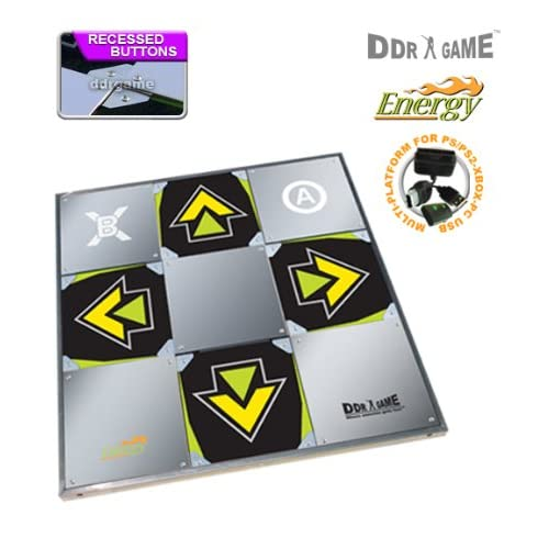 Amazon com: DDR Game Energy Metal Dance Pad for PC/ PS2/ PS1