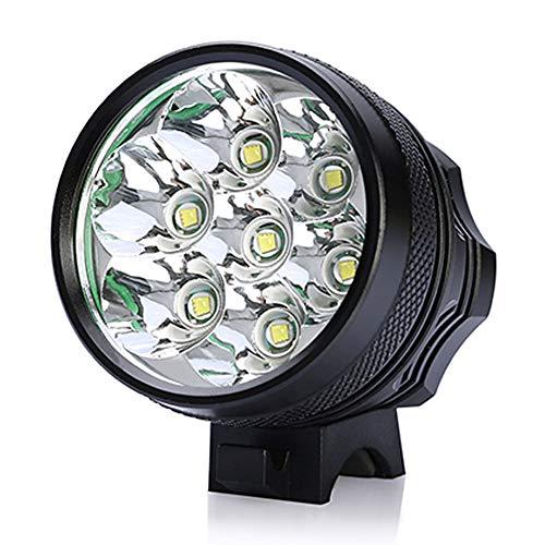 ZIHAOF T6 wasserdicht Fahrradlicht, Fahrrad-Frontlichter, 7800mAh Fahrradbeleuchtungspaket, 2500LM, 3 Modes, IPX5 Wasserdicht/ 6 * 18650 Akku