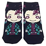 Auxsoul Demon Slayer: Kimetsu No Yaiba Nylon-Socken, bequem, atmungsaktiv, Geschenkidee, Einheitsgröße Gr. Einheitsgröße, Style 03