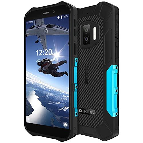 OUKITEL WP12 Pro SIMフリー スマホ 本体 防水防塵耐衝撃 Android 11 4GB RAM +64GB ROM スマートフォン本体13MP+2MP 2眼カメラ5MP AI前側カメラ 5.5インチ 4000 mAhスマートフォン4GデュアルSIM 人間の顔のロック解除 青
