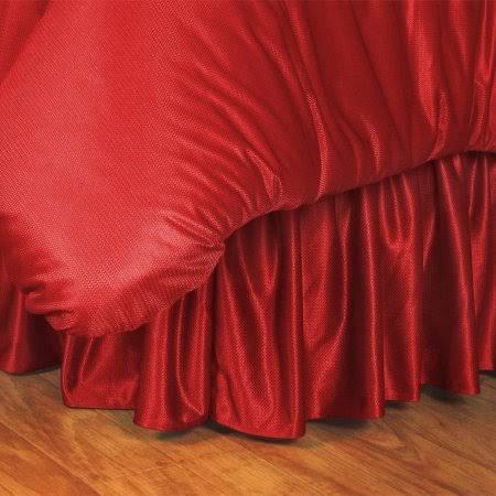 NCAA Nebraska Cornhuskers Bed Skirt, King, Bright Red