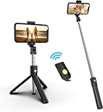 Selfie Stick, Extendable Selfie Stick with Detachable Wireless Remote and Tripod Stand Selfie Stick for iPhone XR/iPhone 11/11 Pro/iPhone Xs/iPhone X/Galaxy Note 10/S20 /S10/Google/Huawei, More