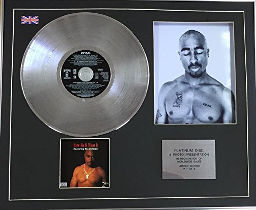 Century Music Awards 2 PAC Platin CD Single + Foto – How Do U Want It