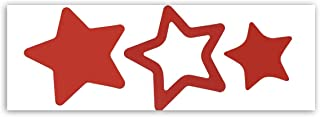 Pop Resin Stars Sticker 2 Way Tanning Removable Christmas Labels 200 Decals for Baby Kids Home Decoration Nursery Bedroom