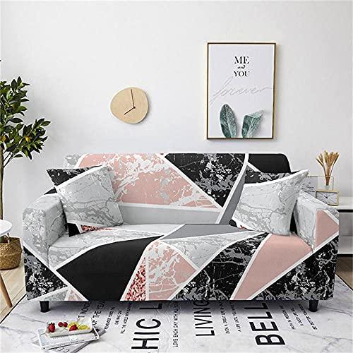 Funda Sofa 4 Plazas Mármol Blanco Gris Negro Rosa Fundas para Sofa Spandex Lavables Desmontables Fundas Sofa Elasticas Ajustables Cubre Sofa Modernas Universal Espesas Funda para Sofa