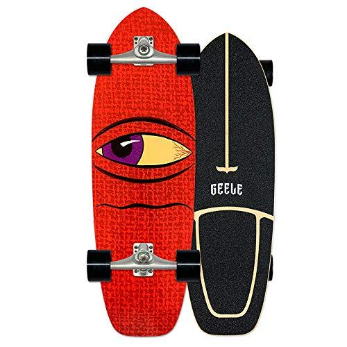 Carver Cruiser Boards skateboard 78×24cm Arce Tabla Completa, Rodamientos de Bolas ABEC Alta velicidad, Tablero de arce de 7 capas, para Adolescentes Principiantes Adultos, Patrón de gran diablo,D