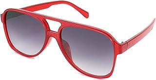 نظارات شمسية افياتور من فيسيدي الكلاسيكية من البلاستيك للرجال والنساء بإطار مربع كبير B2751