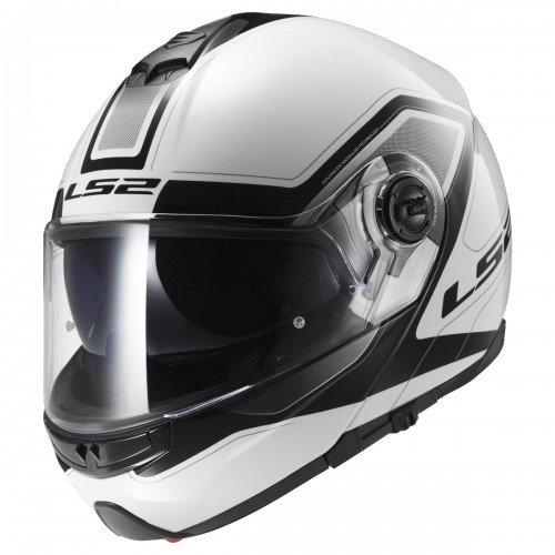 LS2 Casque moto STROBE CIVIK Blanc Noir - XS, Blanc/Noir, Taille XS
