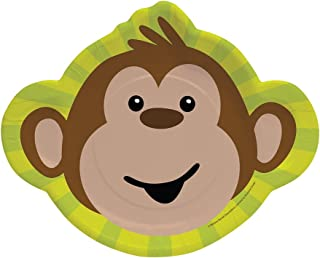 8-Count Paper Dinner Plates, Monkeyin' Around