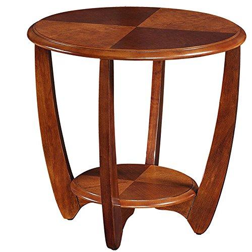 MEIDUO Étagères Tableau latéral d'extrémité de Set de table basse en bois de tables avec la jambe en bois 2 taille/2 couleurs très durable (Couleur : Noyer, taille : 60 cm)