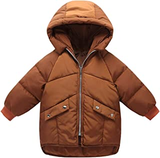 Happy Cherry Baby Girls Long Down Coats Lightweight Outwear Winter Hooded Jackets