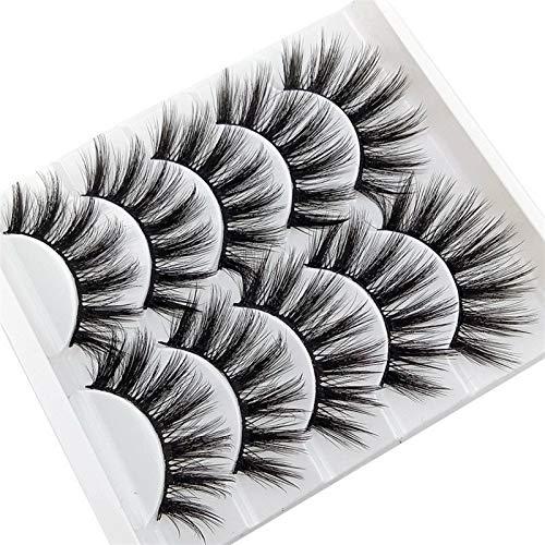 XUNUO Natural Eyelashes Dramatic False Eyelashes Makeup Light Eyelashes 3D Eyelashes 20-5 Pairs (Color : GL704 5pairs)