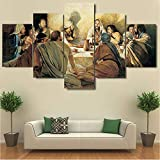 ZQDMYB Das Letzte Abendmahl Leinwand Jesus Christus Poster