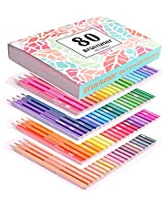 Kleurpotloden, 80 tekenpotloden, oliepotloden voor tekenen, schetsen, schaduwen, kleuren, kleurpotloden voor volwassenen