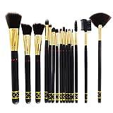 Brochas de maquillaje, 15 piezas, brochas de maquillaje multifuncionales, corrector, sombra de ojos, base de maquillaje, juego de brochas