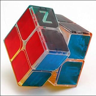 LEEEC transparent hastighetskub (kreativ, unikt material) pussel magisk kub 2 x 2,3 x 3,4 x 4, röd, 2 x 2 x 2