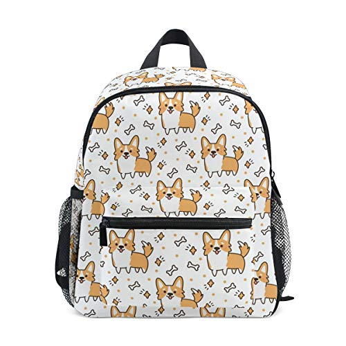 Corgi Dog Backpacks for Kids Girls Boys Cute Yellow Puppies Preschool...
