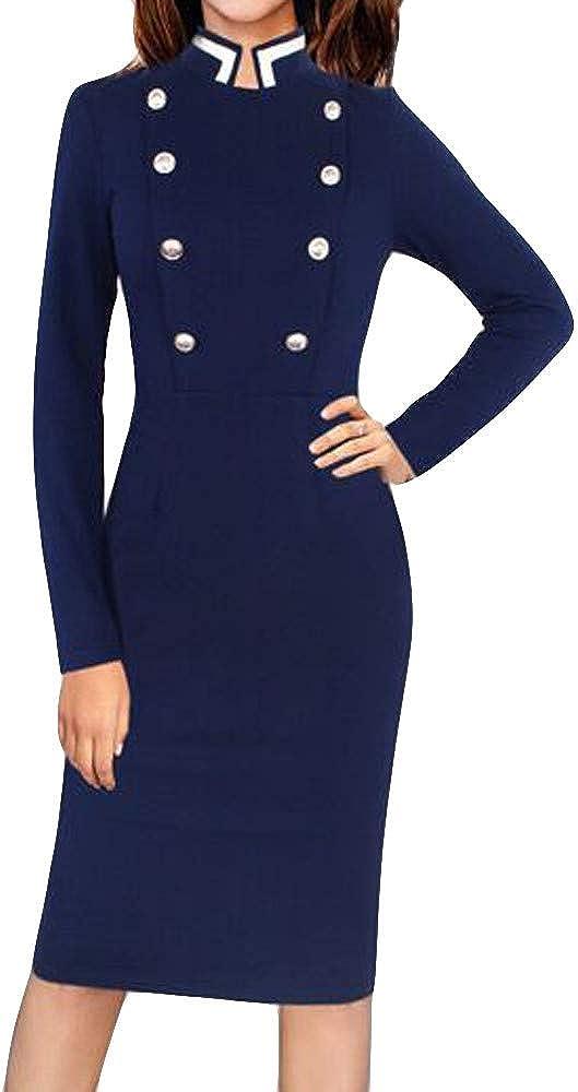 LISTHA Bodycon Mini Dress Women Long Sleeve V Neck Office Pencil Party Dresses