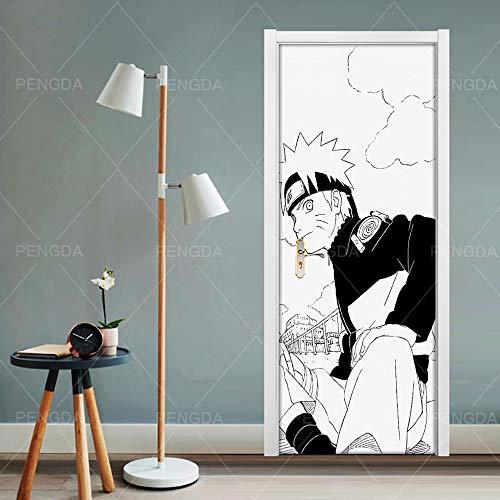 TMANQ Türtapete Selbstklebend Türposter Anime Charakter 3D Bewirken Fototapete Türfolie Poster Tapete Abnehmbar Wandtapete Für Wohnzimmer Küche Schlafzimmer 77X200CM Wandbild Wohnkultur