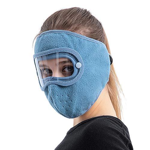 beootcr Casco de protección Facial en 6 Colores Disponibles, protección Facial Completa, Calor de Invierno, vellón Polar, Gafas a Prueba de Viento, protección Facial Blue