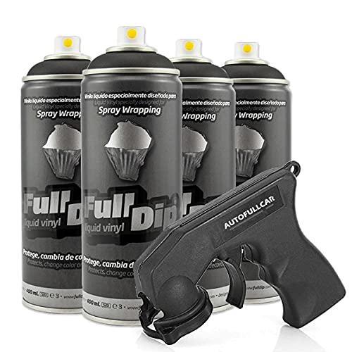 Pack Llantas Vinilo LIQUIDO Full Dip 4 Sprays Negro...