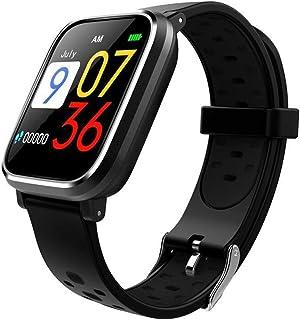 HBBOOI Health Tracker Reloj Inteligente IP68 a Prueba de Agua de la presión Arterial de la Pantalla Monitor de Ritmo cardiaco Correa Desmontable IPS Color de la Pulsera de Deportes