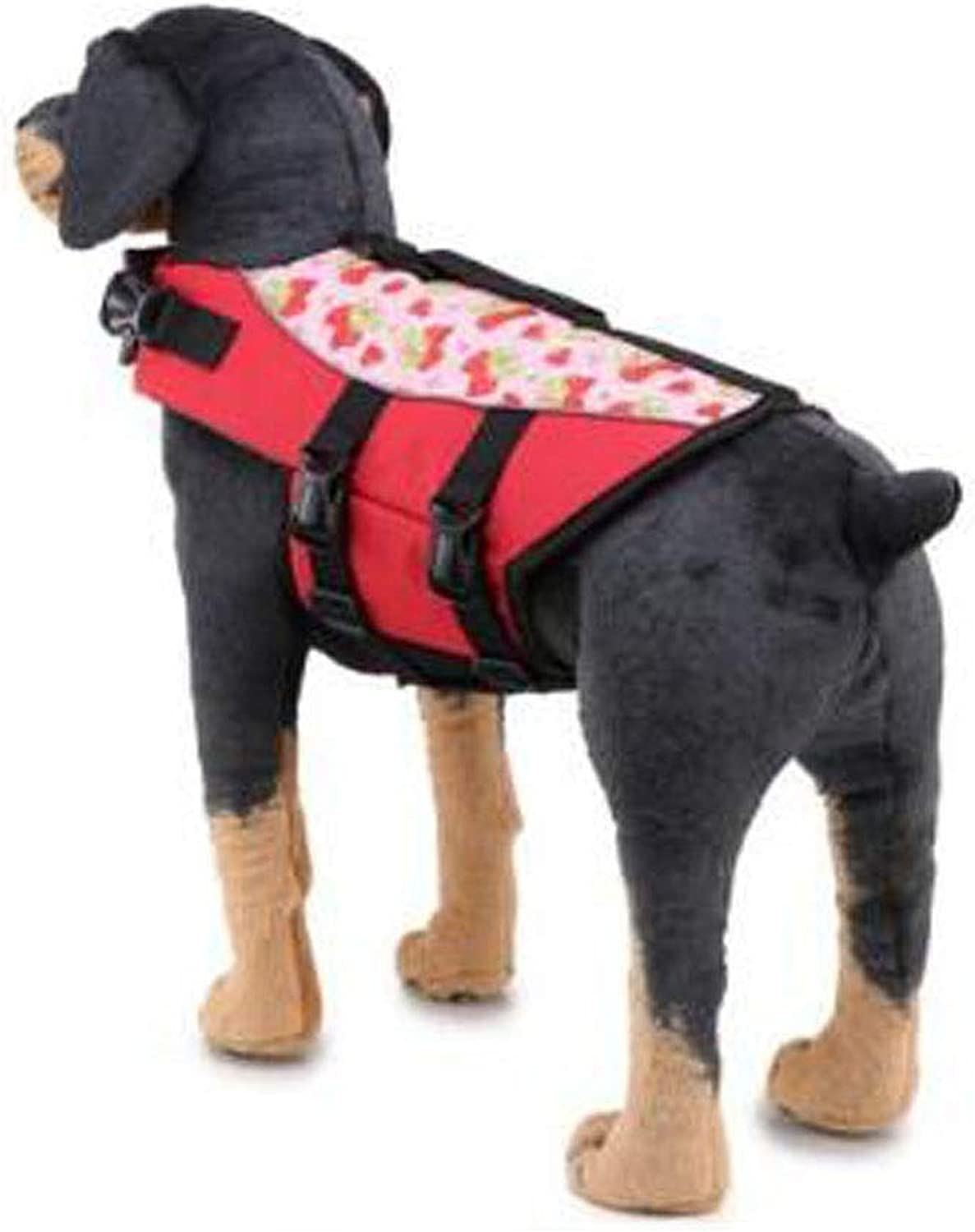 Kaiyitong Life Jacket, Dog's Safe and Sturdy Swimming Vest, Oxford Cloth Quality Material, Black and Other Multicolor Optional, Easy to Carry (Size  L, M, S) SkinFriendly