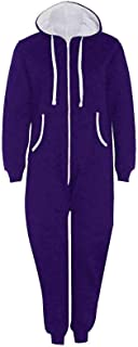 TrendyFashion Mens Onesie Adult Jumpsuit One Piece Pajamas Unisex Nightwear Thermal Hooded Zip Up Onsie1 Jumpsuit