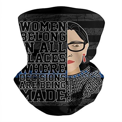 Neck Gaiter Ruth-Bader-Ginsburg-Women-Right- Headband Motorcycling Summer Face-Mask for Women Men Neck Gator