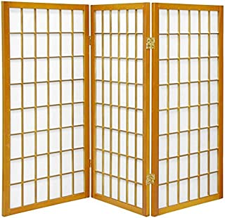 Oriental Furniture 3 ft. Tall Window Pane Shoji Screen -...