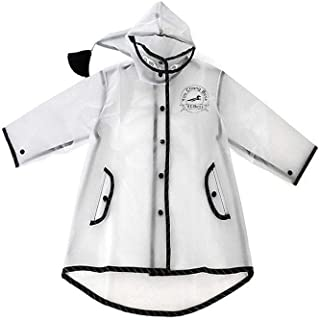 Kids Raincoat Clear Rain Poncho Jacket Rain Coat Rain Wear for Girls Boys Children
