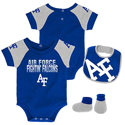 OuterStuff Infant Air Force Academy Falcons Creeper Set Baby Snapsuit Set (0-3 M)