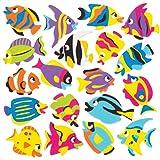 Baker Ross- Pegatinas de espuma de divertidos peces tropicales para decorar (Pack de 120) - Pegatinas de espuma con...