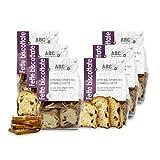 Carioni Food & Health Pan Tostado Bio de Farro y pasas, biscotes - 200 gr (Paquete de 6 Piezas)