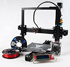 Newest 2016 Tevo Tarantula Massive 200x280x200 Print Area with Heated Bed Sturdy Black Anodised Aluminium Frame Open Source 3D Printer (Part of RepRap Project) Unrivalled Technical Support