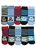 Unbekannt 10 Paar Jungen Thermo Winter Socken mit ABS Größe 23-39 (23-27)