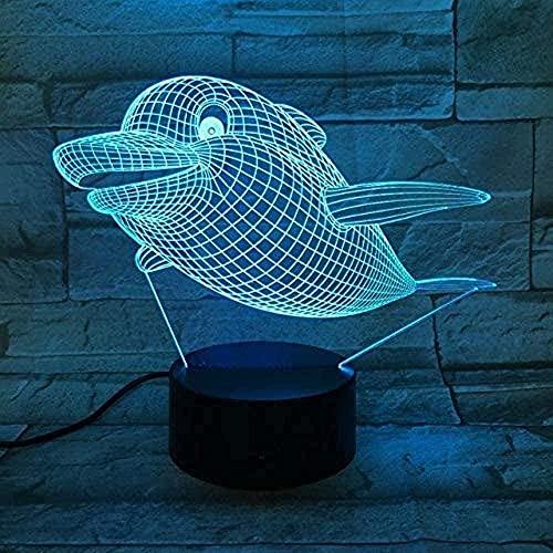 Luz de noche 3d Asia Europa ballena botella acrílica lámpara de sueño UV accesorio 3 lámpara de escritorio de potencia decoración de dormitorio regalo para niños